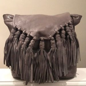 FINAL$❣️NWT DAY & MOOD Leather Fringe Backpack